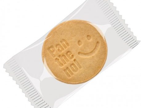 Logo-Biscuits, round, single packed