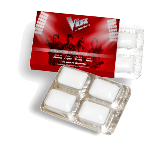 Promotion blister pack with 4 chewing gum