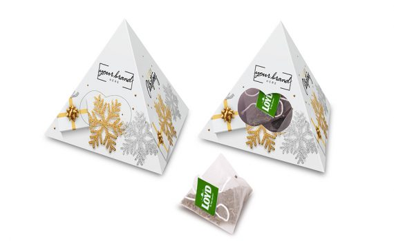 Promotion pyramid with 10 tea bags