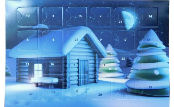 Advent calendar A5 40g - 3D cottage