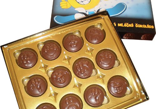 Chocolate Smilies 70g - Snowboard, gold blister