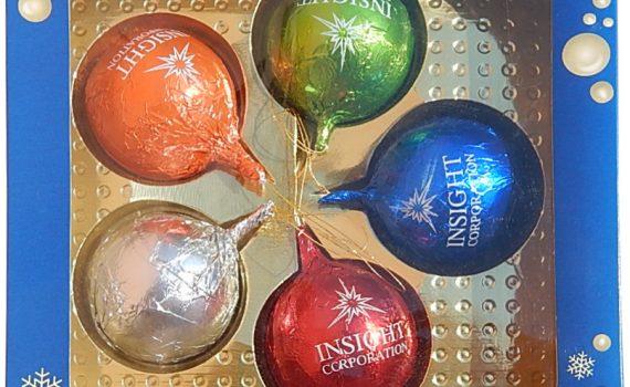 Christmas balls set 5 x 25g