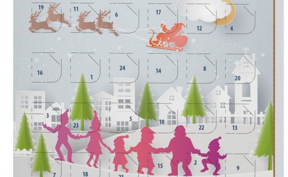 Christmas small advent calendar 40g