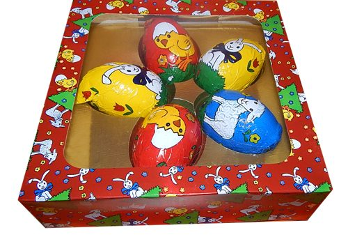 Easter chocolate eggs in set - 5 x 30g