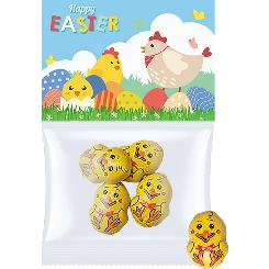 Easter maxi bag with chocolate chicken, 4 pcs