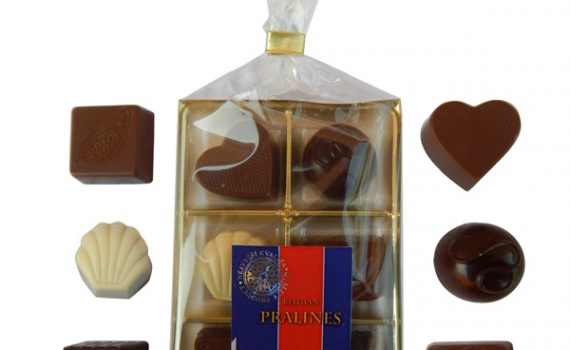 Pralines in bag and blister 65g mix