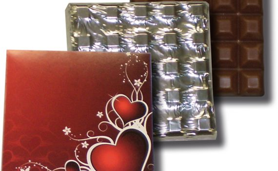 Table 100g - hearts, dark chocolate