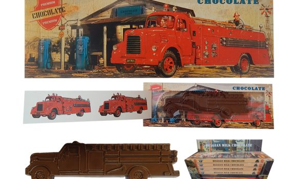Transport 100g - Chocolate fire truck