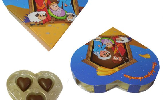 Heart in blister 24g - Nativity scene