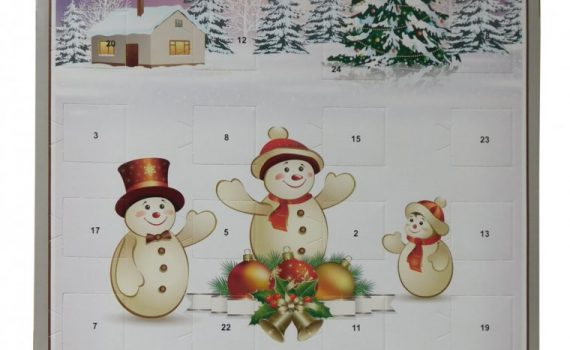Advent calendar A4 50g - Snowmen