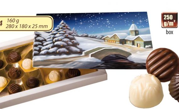 Advertising Christmas bombiniere 160 g