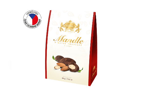 Almonds in dark chocolate and cocoa 80 g