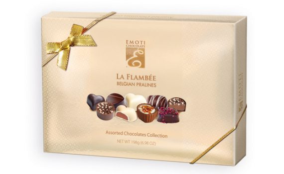 Belgian pralines with filling in gift box, 198g