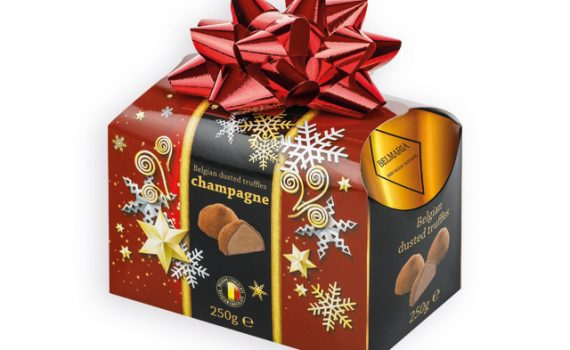 CHAMPAGNE TRUFFLES Belgian chocolate truffles in gift. package, 250g