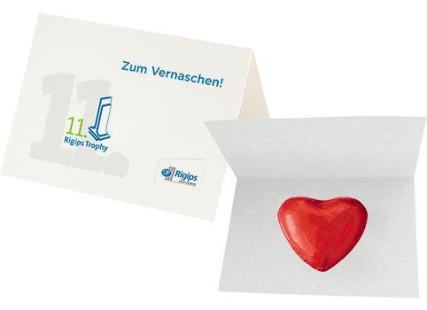 Choco heart, ca. 5g, promotional card