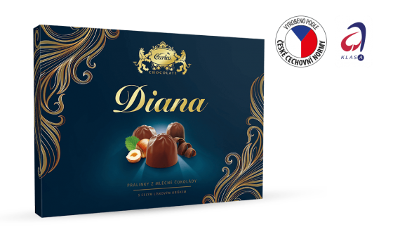 Chocolate box with hazelnut filling 133 g
