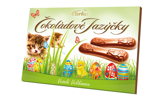 Chocolate tongues Easter 100 g