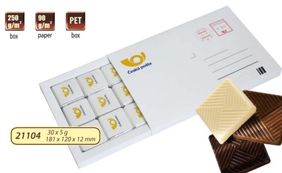 Chocolate writing 30 x 5 g