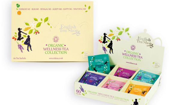 Collection of wellness organic teas, 6 flavors, total 60 bags, 90 g