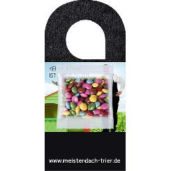 Coloured chocolate lentils 7g, door hanger with bag