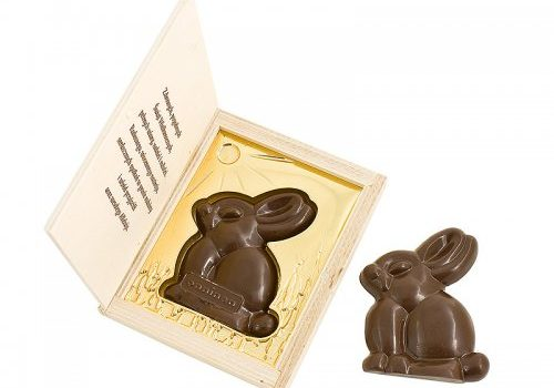 Easter Bunny in Wooden Box