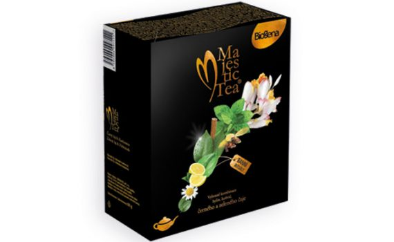 Gift packaging of green and black aromatized tea