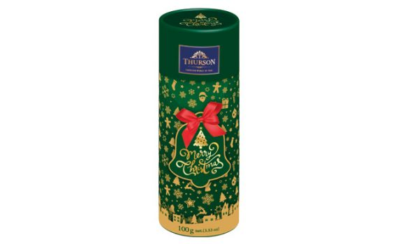 Gift tube with black tea with orange, black currant and strawberry flavor