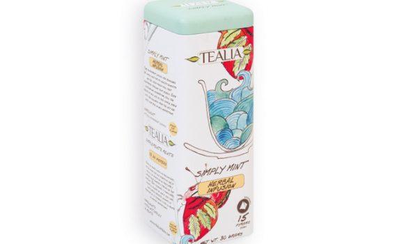 Mint tea in a gift tin jar, 15 bags, 30 g