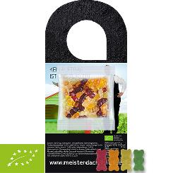 Organic Gummy Bears without Gelatine 10g, door hanger with bag