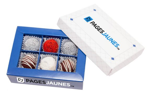 Promotion 6 pralines chocolate box 105 g