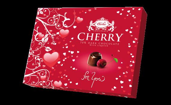 Valentine - Chocolate cherries 190 g
