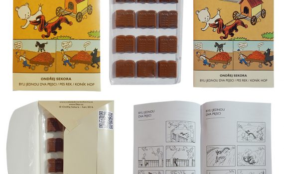 Chocolate Library 60g - Dog Rek, There were two dogs once, Horse Hop