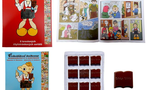 Chocolate Library 60g - Hurvínek Comics (red cover)