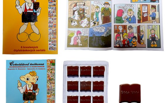 Chocolate Library 60g - Hurvínek Comics (yellow plates)