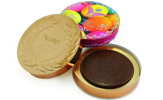 Chocolate Medals 120 mm in round box