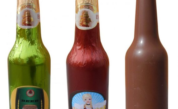 Chocolate beer bottle 180g