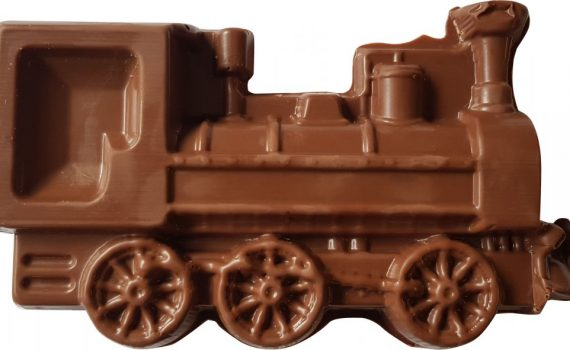 Chocolate locomotive 250g in a gift box