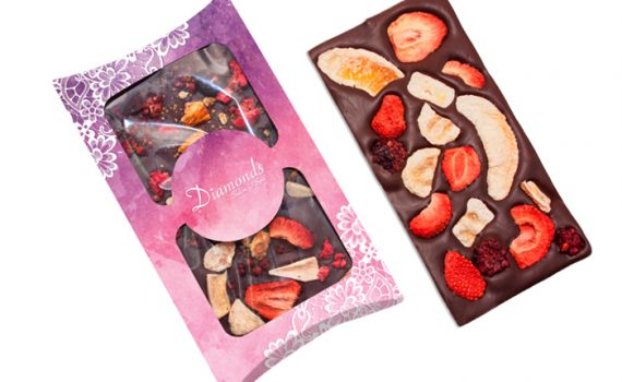 Chocolate with fruits 90 g