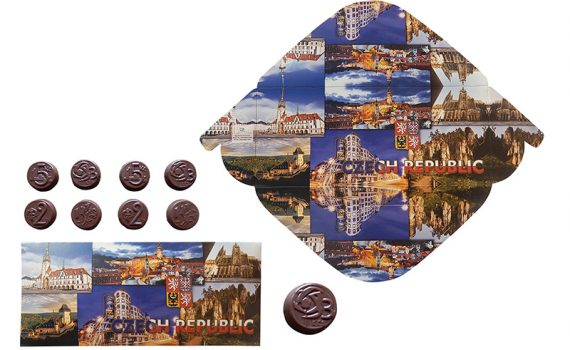 Czech Republic chocolate envelope 60g