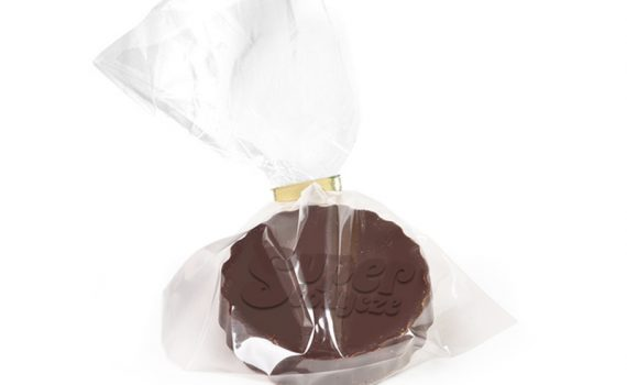 Delicious dessert chocolate with raised logo