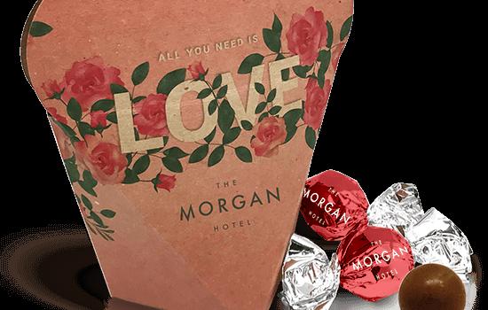 Heart shaped box with chocolates