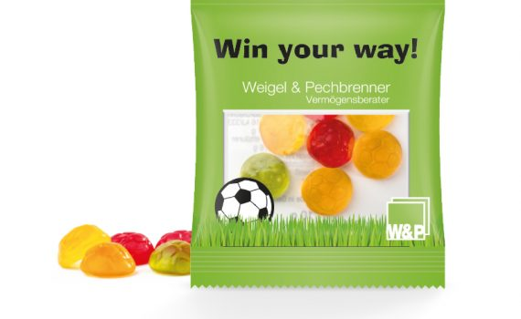 Jelly Gum Mini Bag Footballs, 10 g