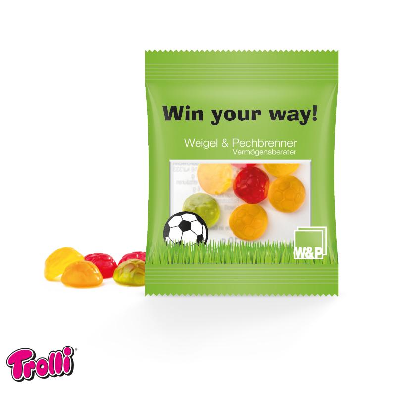 Jelly Gum Mini Bag Footballs, 10 g