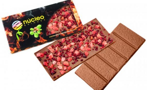 Large chocolates with lyophilized fruit bits 110 g