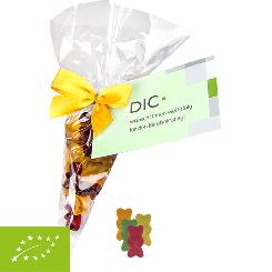 Organic gummy bears without gelatine 30g, cone bag