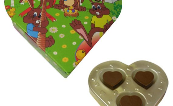 Promotion Heart in blister pack 33g - bunnies