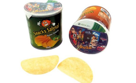 Promotional potato chips