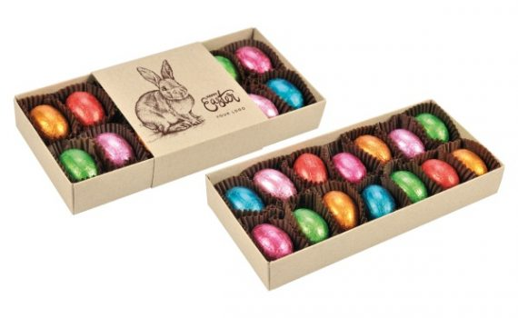 Easter Box 14 pcs chocolate eggs with nut filling