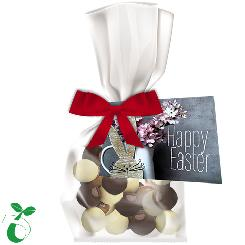 Easter Crispy chocolate ball mix 30g, organic foil flat bag