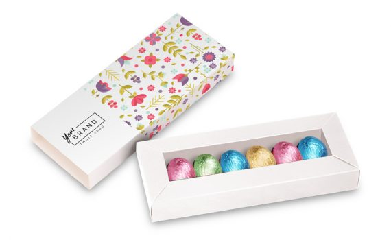 Easter chocolates eggs 6 pcs in box